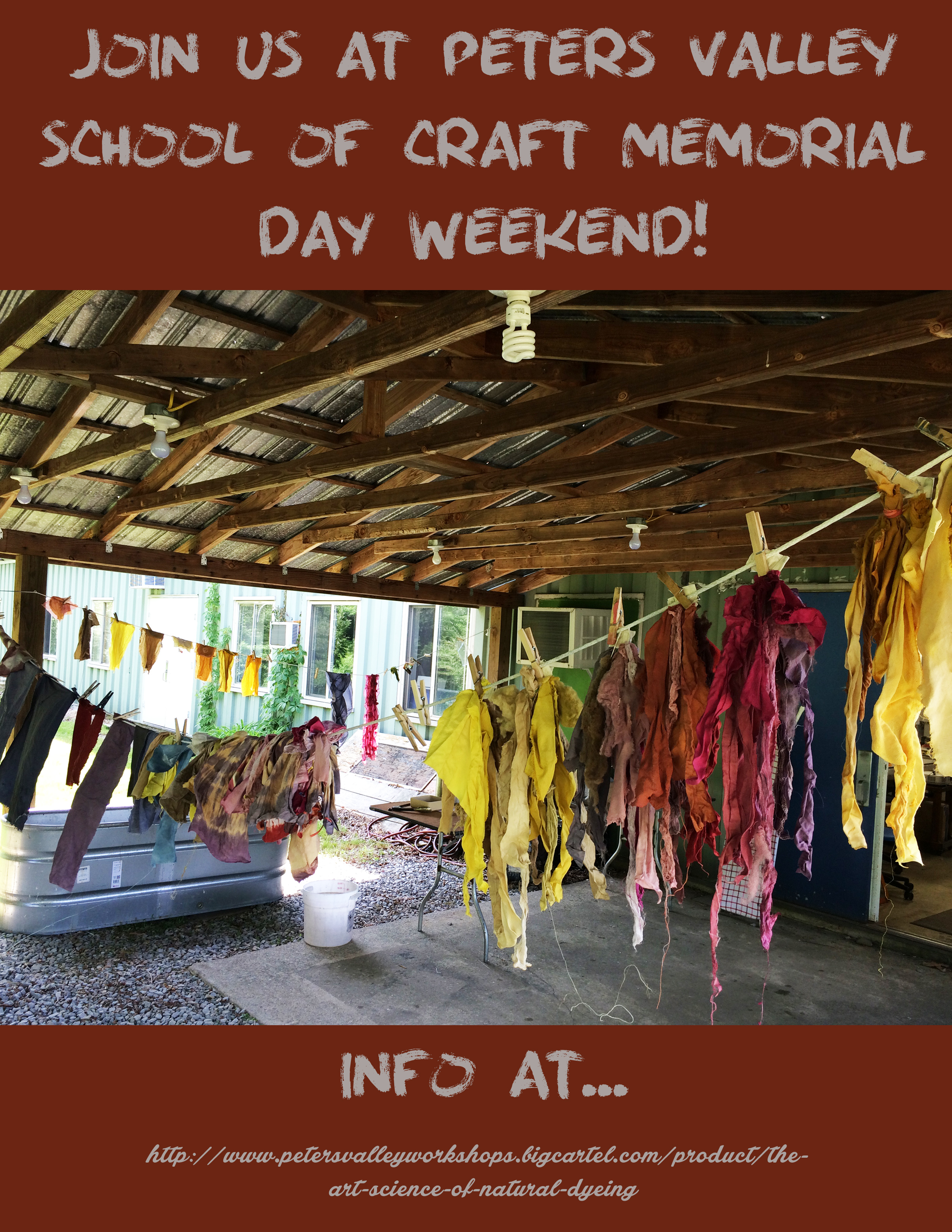 Workshop at peters valley school of craft dyeing to for The art and craft of natural dyeing